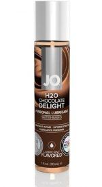 Ароматизированный лубрикант JO Flavored Chocolate Delight - 30 мл.