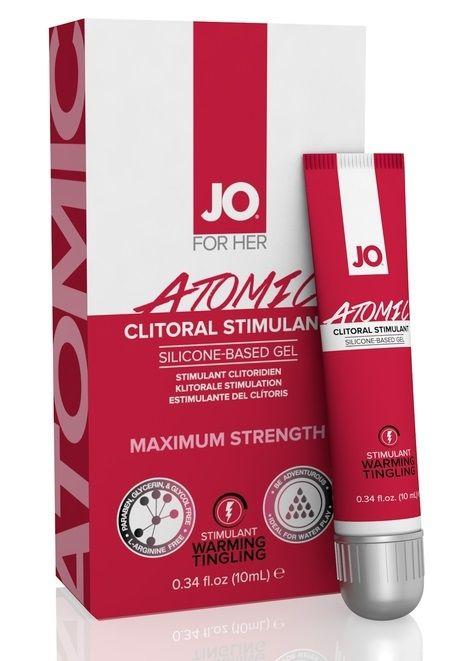 Возбуждающий гель для клитора мощного действия JO CLITORAL ATOMIC - 10 мл.
