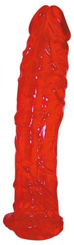 Массивный красный фаллоимитатор Colourado - 22 см.