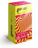 Презервативы анатомической формы с точечной и ребристой структурой Ganzo Extase - 12 шт.