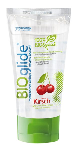Гель-лубрикант на водной основе с ароматом вишни BIOglide Kirsch - 80 мл.