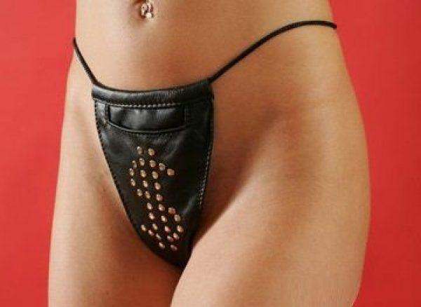 Женские кожаные трусы с кармашком - фото, отзывы