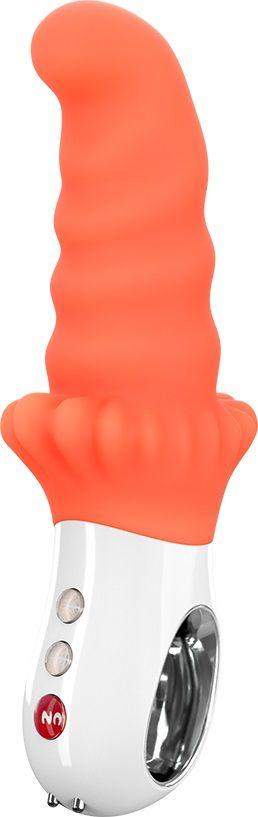Оранжевый вибромассажёр G5 Vibe MOODY - 18,8 см.