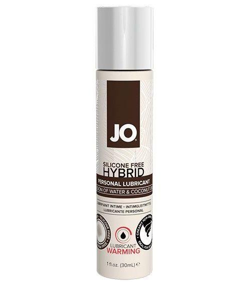 Водно-масляный лубрикант с разогревающим эффектом JO Silicone Free Hybrid Lubricant WARMING - 30 мл.