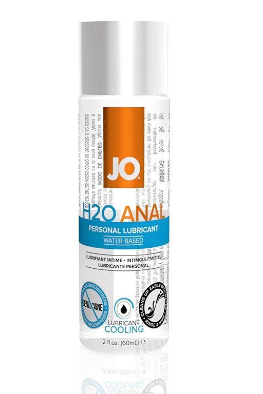 Анальный охлаждающий и обезболивающий лубрикант на водной основе JO Anal H2O COOLING - 60 мл.