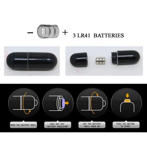 Чёрная насадка с клиторальным вибростимулятором и закрытой головкой - 14 см. - фото 5