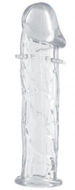 Гладкая прозрачная насадка с усиками под головкой - 12,5 см.