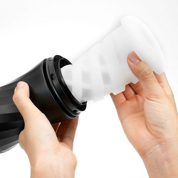 Мастурбатор с регулируемой плотностью обхвата Custom Strength CUP Twist Ripple - фото 4