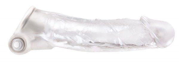 Прозрачная насадка с закрытой головкой и вибрацией Renegade Manaconda - 18,3 см.