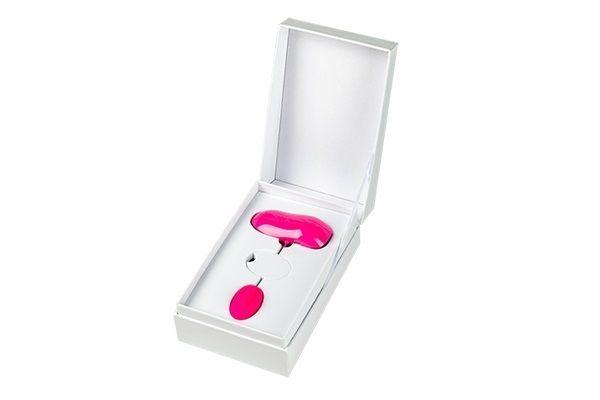 Розовое виброяйцо Play Ball с пультом управления и фиксацией - фото 3