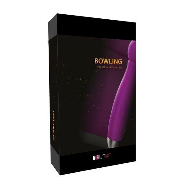Водонепроницаемый вибратор Bowling с насадками для двоих - 19 см. - фото 7