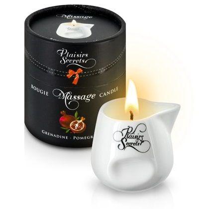 Массажная свеча с ароматом граната Bougie de Massage Gourmande Grenadine - 80 мл.