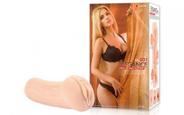 Реалистичный мастурбатор-вагина телесного цвета Elegance с двойным слоем материала - фото, отзывы