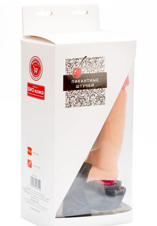 Женский страпон с реалистичной насадкой-фаллосом - 18 см. - фото 4