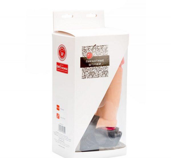 Телесный страпон с регулируемыми трусиками - 15 см. - фото 4