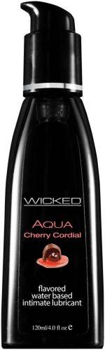 Лубрикант WICKED AQUA Cherry Cordial с ароматом вишневого ликера - 120 мл.