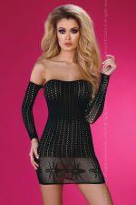 Ажурное платье с открытыми плечами Paolina