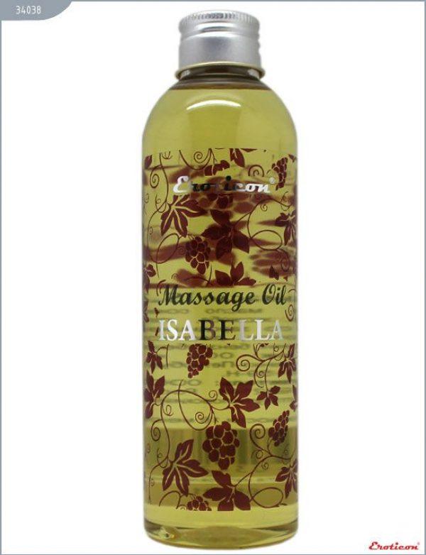 Массажное масло Isabella с ароматом винограда сорта Изабелла - 200 мл.