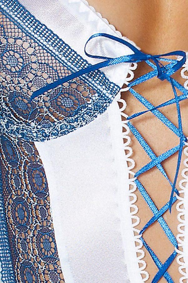 Коротенькая сорочка Eleni со шнуровкой по всей длине - фото, отзывы