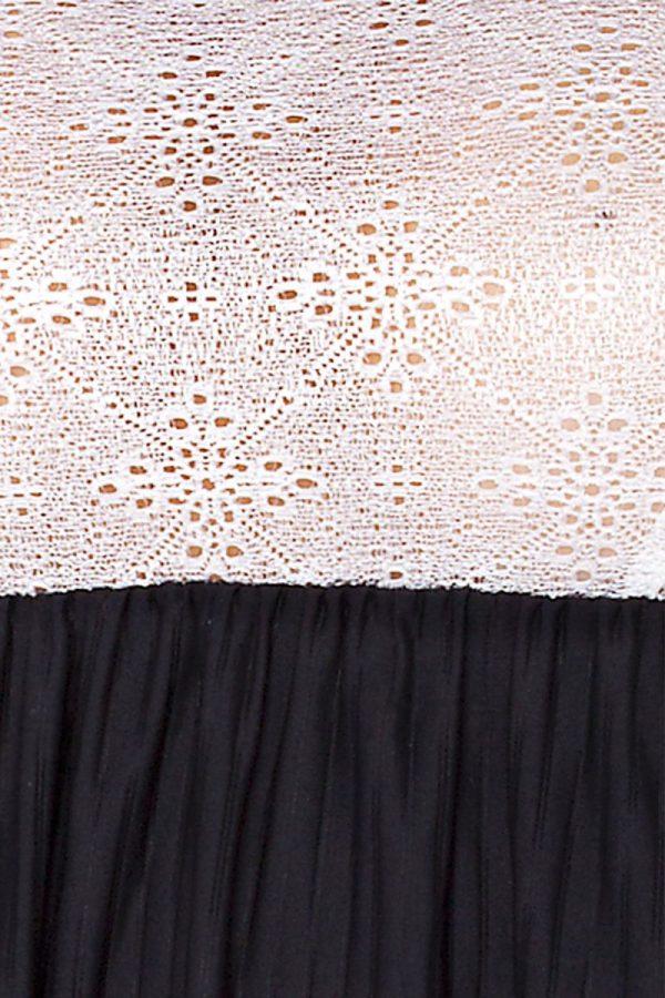 Сорочка Larisa в тонкую полоску с кружевным лифом - фото 3