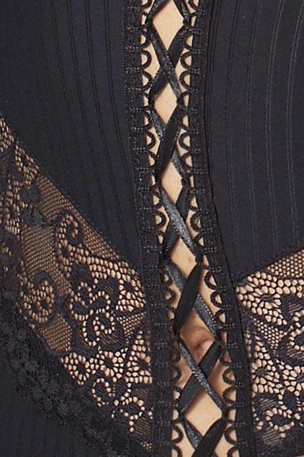 Корсаж Zoja в тонкую полоску с оборками и шнуровкой - фото, отзывы