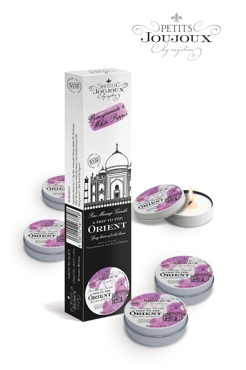 Набор из 5 свечей Petits Joujoux Orient с ароматом граната и белого перца - 33 гр.