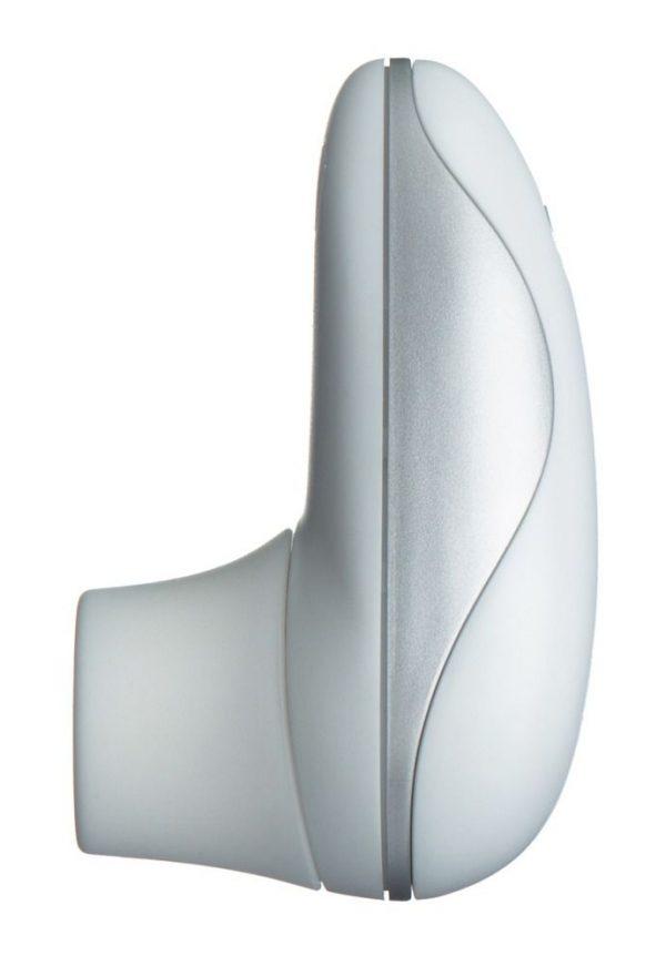Бело-серебристый вакуумный стимулятор клитора Womanizer Starlet - фото, отзывы