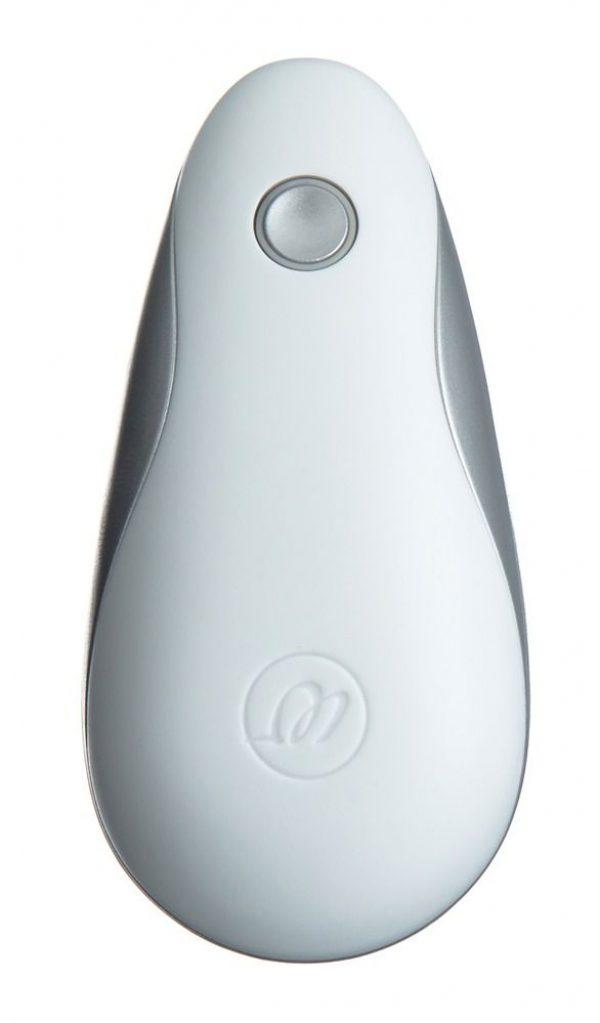 Бело-серебристый вакуумный стимулятор клитора Womanizer Starlet - фото 4