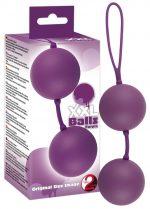 Фиолетовые вагинальные шарики XXL Balls