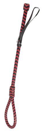 Красно-черный стек с наконечником-петлей ZADO Cane - 51 см.