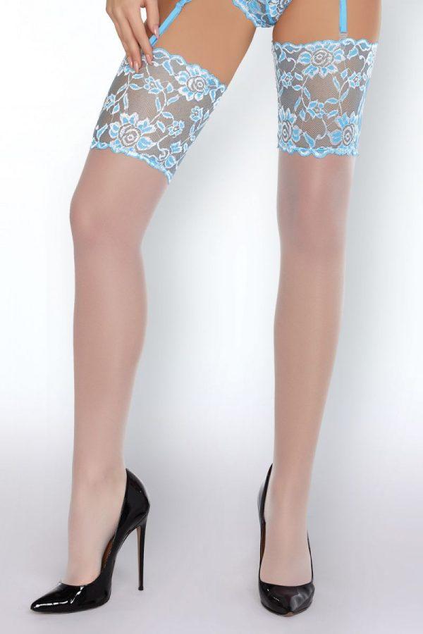 Нежный корсаж Oihanna в комплекте с трусиками и чулками - фото 3