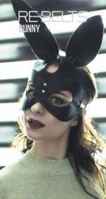 Маска с заячьими ушами Bunny Black