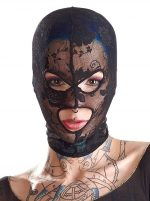 Кружевная маска-балаклава с отверстиями для глаз и рта