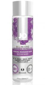 Массажный гель ALL-IN-ONE Massage Oil Lavender с ароматом лаванды - 120 мл.